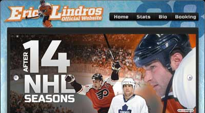 Eric Lindros Logo and Web Design