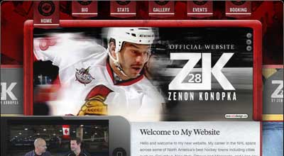 Hockey Player Zenon Konopka